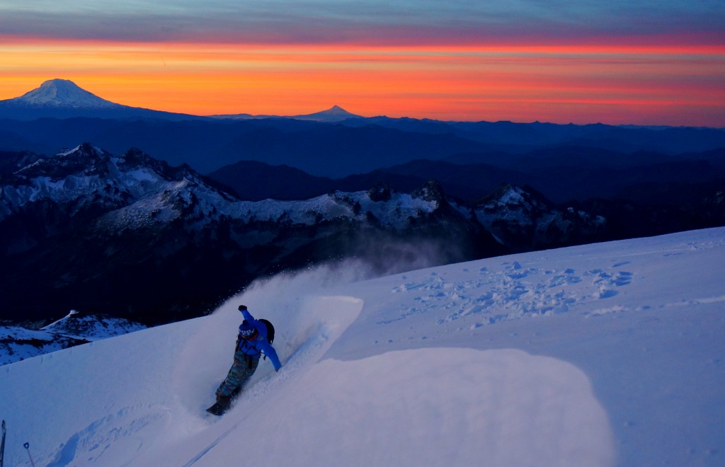 Sunrise Pow Slash. Photo: Ben Stone