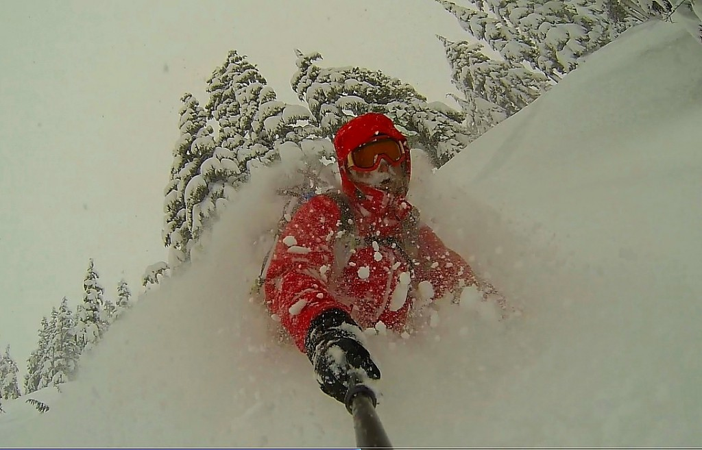 Deep pow day in the Baker Backcountry