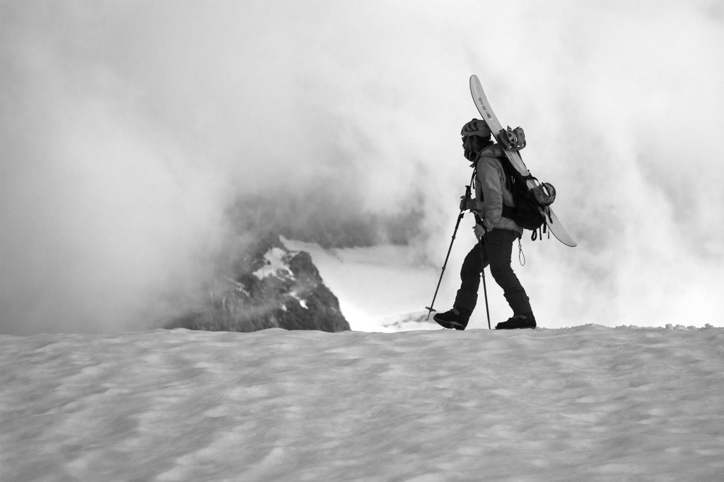 Jeff Crossing Ptarmigan Ridge, Photo - Jesse Hambley